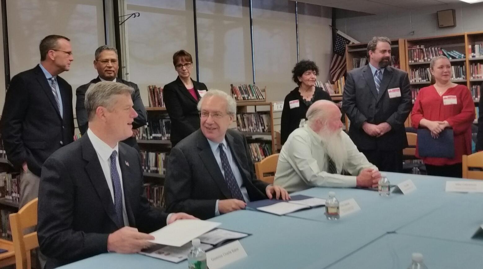 Gov. Baker Briefed On Springfield School Turnaround Efforts